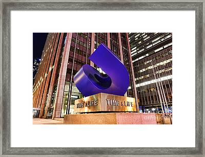 Time And Life Curved Cube Framed Print by Paul Ward