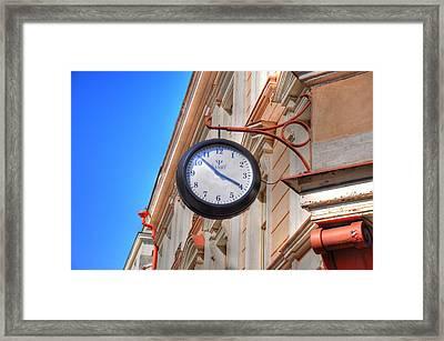 Time Framed Print by Barry R Jones Jr