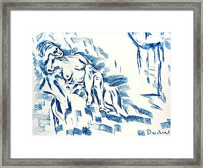 Framed Print featuring the drawing Time by Brian Sereda