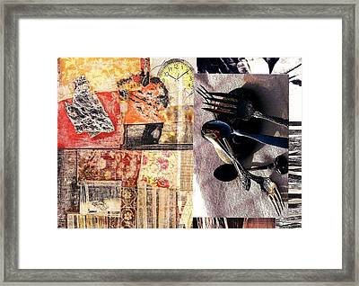 Time Flies Silverware Fades Framed Print by Jann Sage