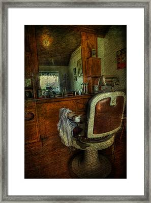 Time For A Cut - Old Barbershop - Vintage - Nostalgia Framed Print by Lee Dos Santos