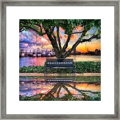 Time For Reflection Framed Print by Debra and Dave Vanderlaan