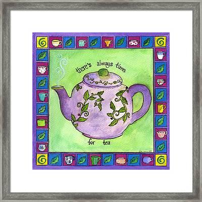 Time For Tea Framed Print by Pamela  Corwin