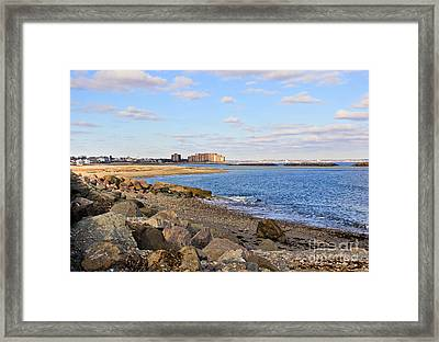 Time-honored New England Coast Framed Print by Extrospection Art