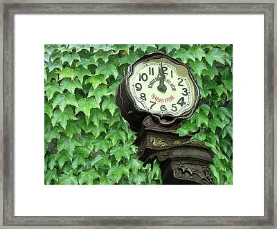 Time In Green Framed Print by Yury Bashkin