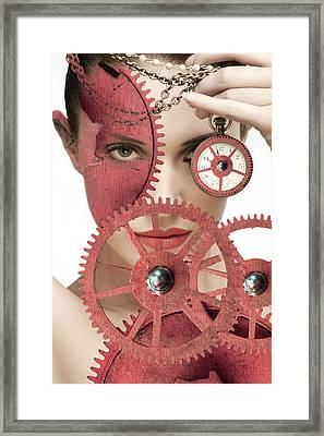 Time Is An Illusion Framed Print by Rozalia Toth