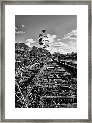 Time Marches Framed Print
