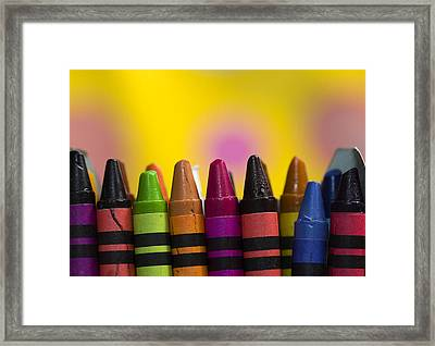Time To Color Framed Print by Trudy Wilkerson