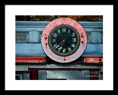 Neon Photographs Framed Prints