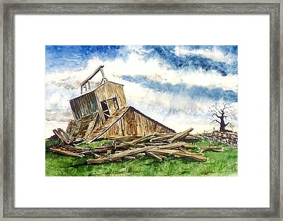 Time To Rebuild Framed Print