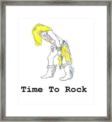 Time To Rock Framed Print by Jeannie Atwater Jordan Allen
