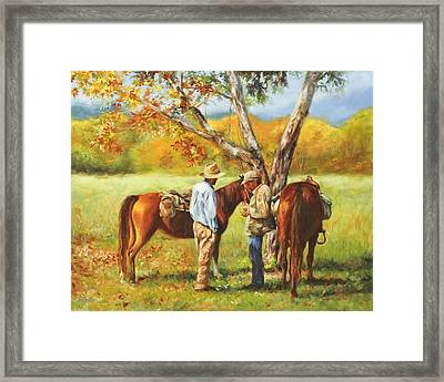 Time To Settle Up Framed Print by Katherine Tucker