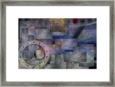 Framed Print featuring the painting Time Travelers by Jean Moore
