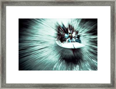 Time Vortex Mustache Boat Framed Print