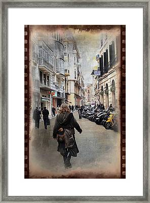 Time Warp In Malaga Framed Print by Mary Machare