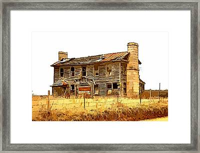 Times Past Abstract Framed Print by Marty Koch