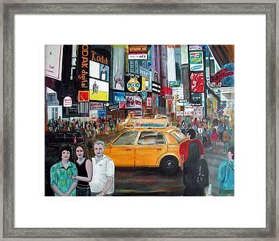 Times Square Framed Print by Anna Ruzsan