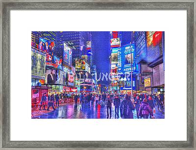Times Square Framed Print by Bill Unger