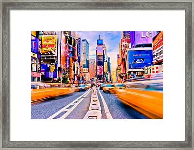 Times Square Framed Print by David Hahn
