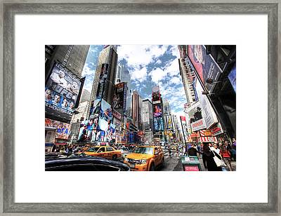 Times Square Framed Print by Kean Poh Chua