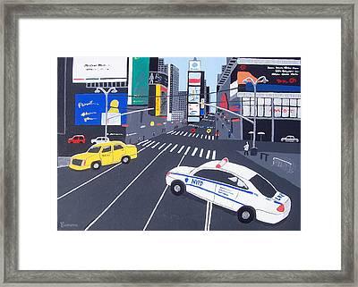 Times Square New York Framed Print