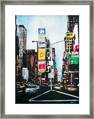 Times Square Nyc Framed Print by Ann Marie Napoli