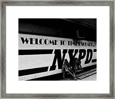 Times Square Nypd Framed Print