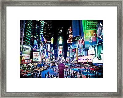 Times Square Framed Print by Tim Eisenhauer