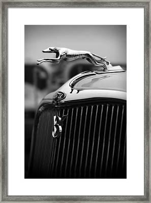 Timmis-ford V8 Greyhound Hood Ornament Framed Print by Gordon Dean II