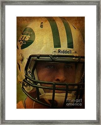 Timothy Richard Tebow - Tim Tebow - New York Jets   Framed Print by Lee Dos Santos