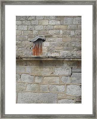 Framed Print featuring the photograph Tin Chimney by Christophe Ennis