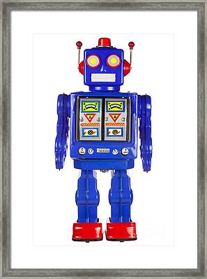 Tin Robot Arms By His Side Framed Print by Richard Thomas