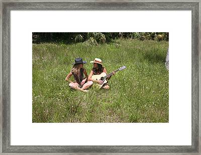 Tina And Susan 109 Framed Print
