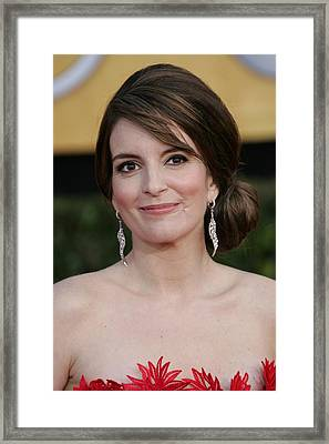 Tina Fey At Arrivals For 17th Annual Framed Print