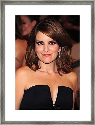 Tina Fey At Arrivals For American Woman Framed Print by Everett