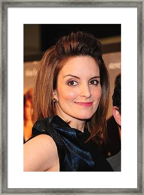 Tina Fey At Arrivals For Date Night Framed Print