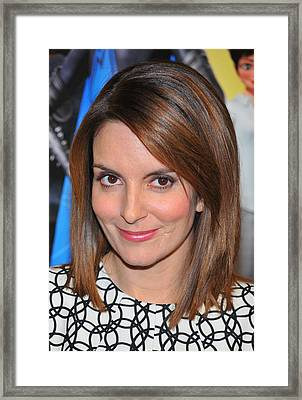 Tina Fey At Arrivals For Megamind Framed Print by Everett