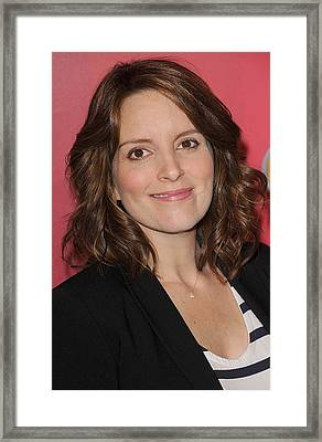 Tina Fey At Arrivals For Nbc Upfront Framed Print by Everett