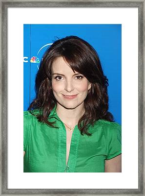 Tina Fey At Arrivals For The Nbc Framed Print by Everett