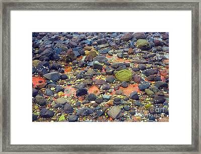 Framed Print featuring the photograph Tinopoi Beach Rocks by Mark Dodd