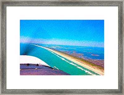 Tiny Airplane Big View II Framed Print by Betsy Knapp