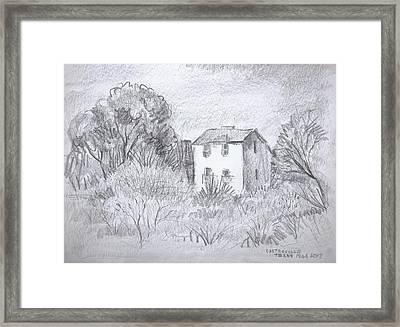 Tiny Country House Framed Print by Bill Joseph  Markowski