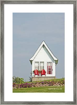 Tiny House Exterior Framed Print by Marlene Ford