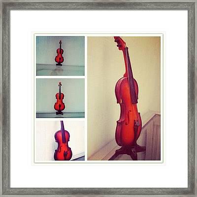 Tiny Violin #violin #music #orchestra Framed Print