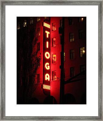 Tioga Hotel In Coos Bay Oregon Framed Print by Gary Rifkin
