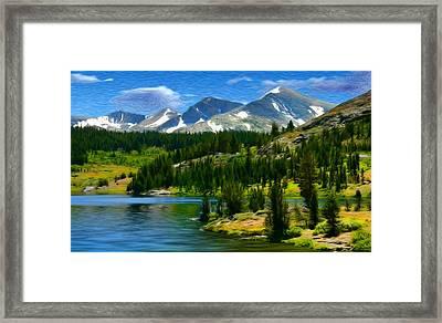 Tioga Lake Frank Lee Hawkins Framed Print