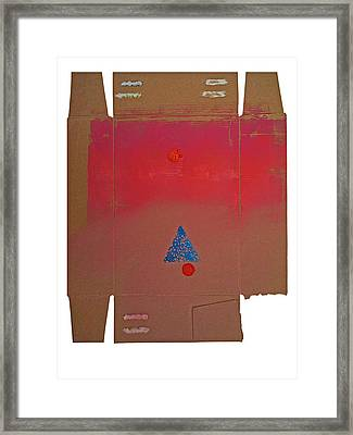 Tipi With Fire Framed Print by Charles Stuart