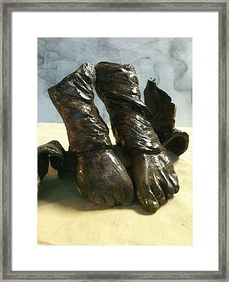 Tippy Toes Framed Print by Holly  Suzanne