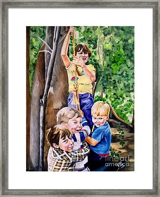 Tire Swing Framed Print