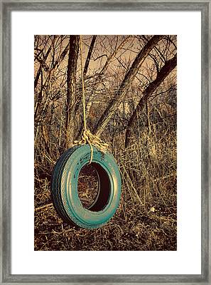 Tire Swing Framed Print by Tony Grider